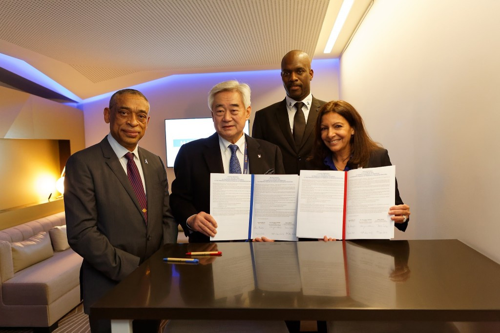 An agreement was signed by the THF, City of Paris and French Taekwondo Federation ©THF