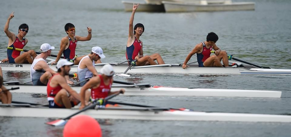Japan earned two golds in rowing on the third day of the Summer Universiade