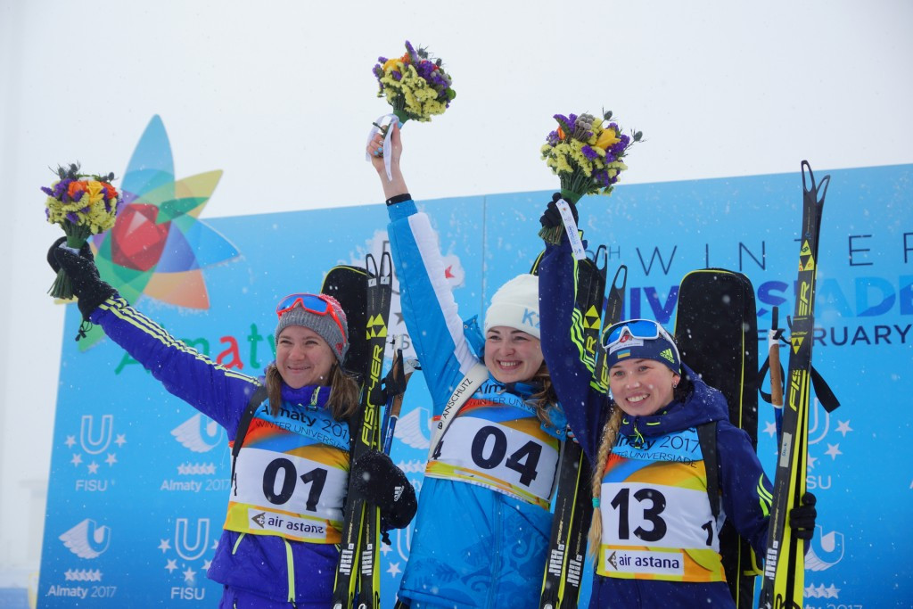 Biathlete Raikova wins hosts Kazakhstan's first gold medal of 2017 Winter Universiade