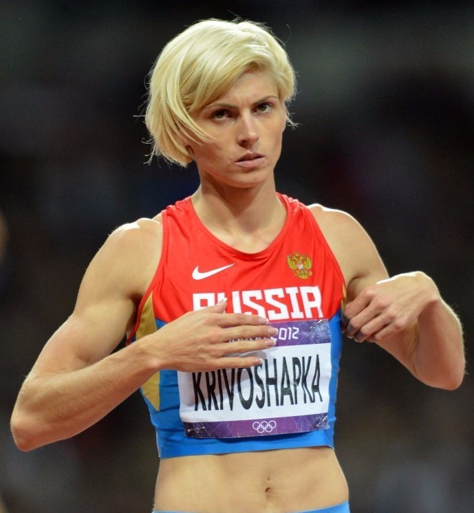 Antonina Krivoshapka has retrospectively failed a London 2012 drugs test ©Getty Images