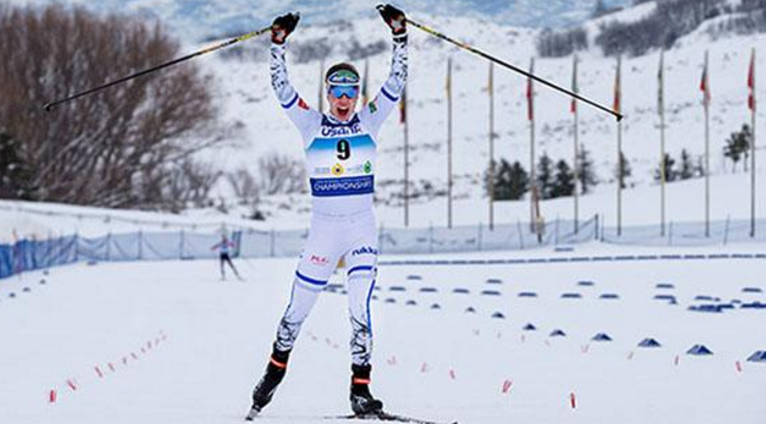 Finland's Arrtu Mäkiaho won the first Nordic combined gold medal in Park City ©US Ski Team/Steven Earl
