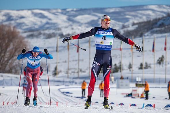 Norway's Fredrik Riseth won the men's under-23 cross-country sprint ©US Ski Team/Steven Earl