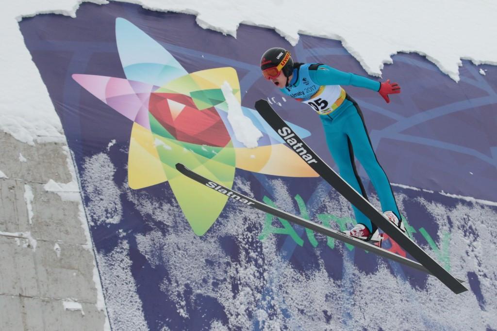 The ski jumping element took place at the Sunkar International Ski Jumping Complex ©Almaty 2017