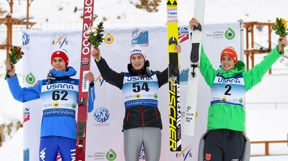 Polasek and Malsiner take junior ski jumping world titles in Park City