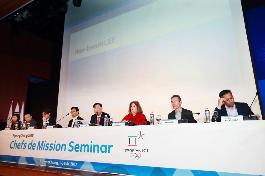 Pyeongchang 2018 and IOC officials gather during the Chef de Mission Seminar ©Pyeongchang 2018