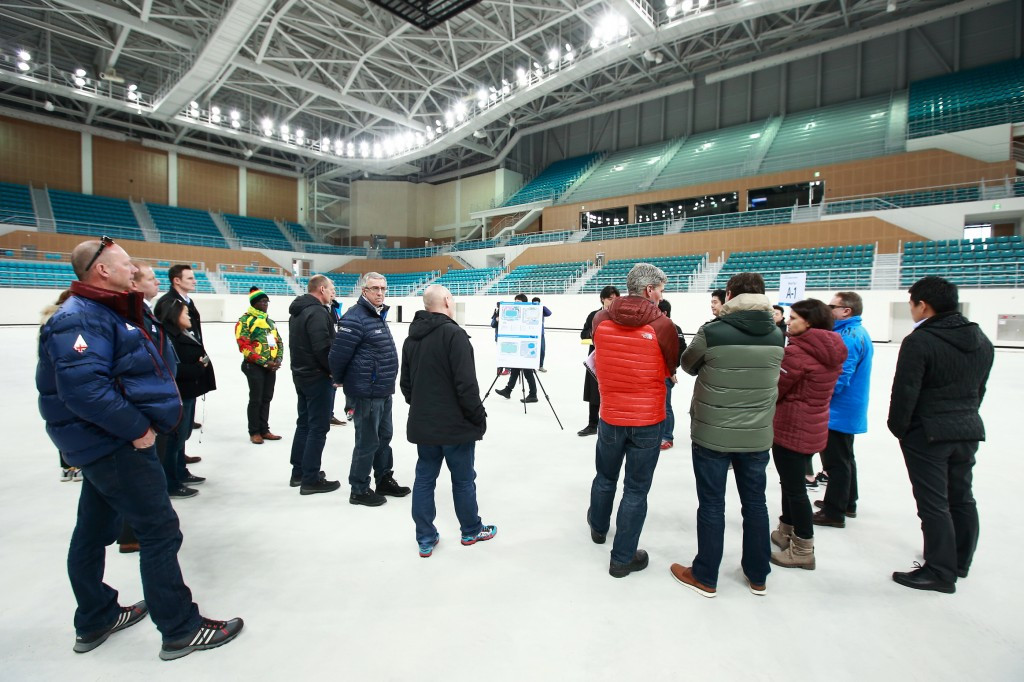 Officials gather during the Chef de Mission Seminar site visits ©Pyeongchang 2018