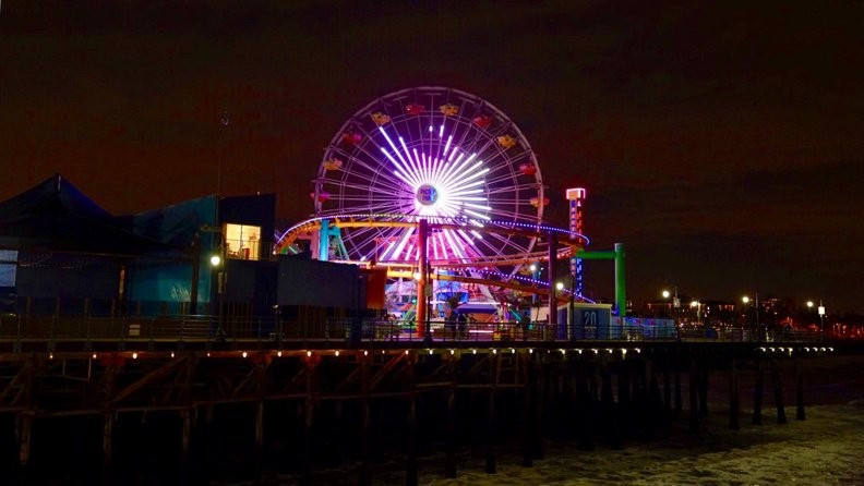 Los Angeles 2024 projected their logo onto the Pacific Wheel on Santa Monica Pier ©Los Angeles 2024