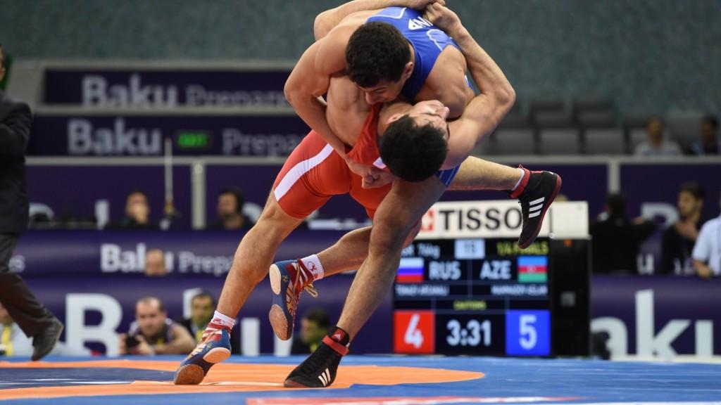Iran record impressive haul as Baku 2015 wrestling test event gets underway