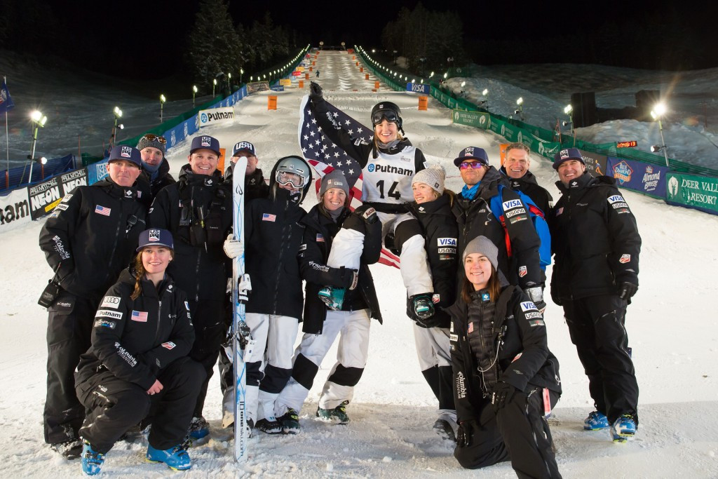 Schild soars to emotional FIS Moguls World Cup win