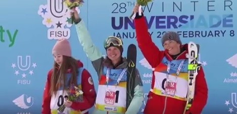 Kazakh duo secure double-double in Winter Universiade moguls competition