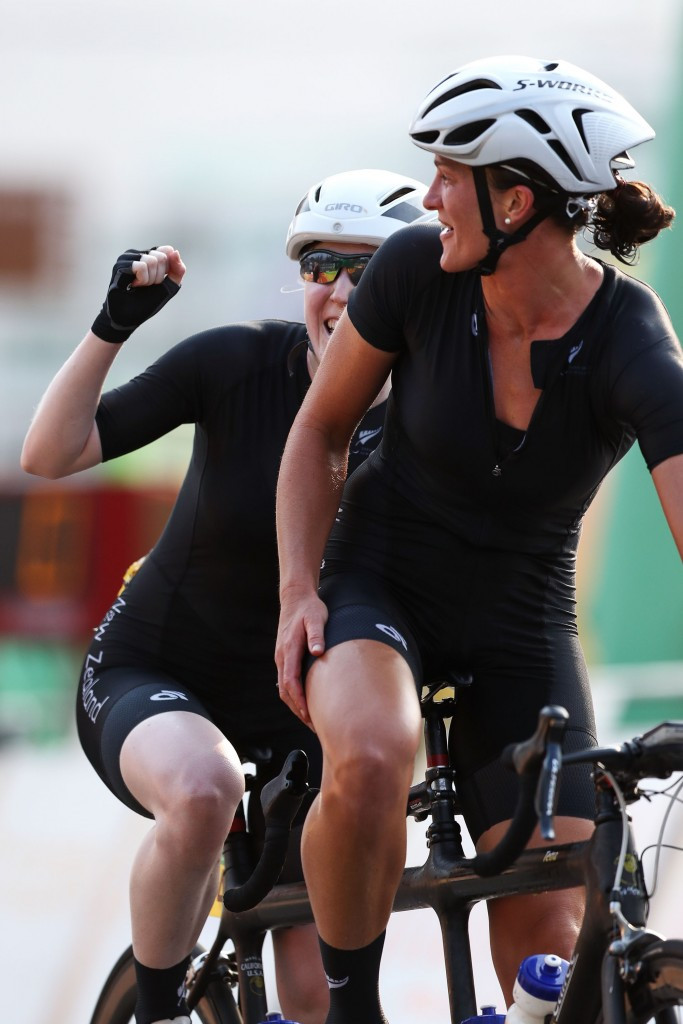 Laura Thompson, left, and Emma Foy will be among the Paralympic athletes present ©Getty Images