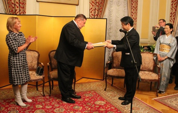 Vasily Shestakov was recognised for promoting sambo and for building relationships between Russia and Japan ©FIAS