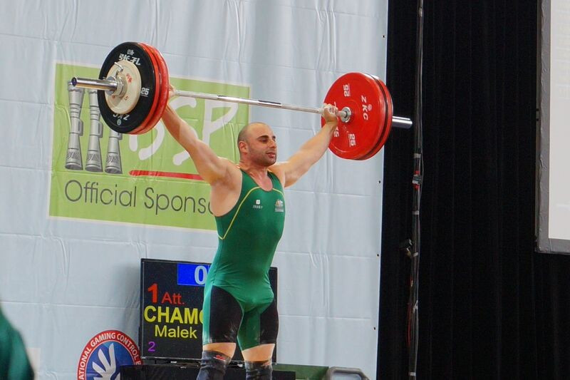 Blind weightlifer Malek Chamoun won the men's 85kg snatch event but was denied clean and jerk and overall gold by the closest of margins
