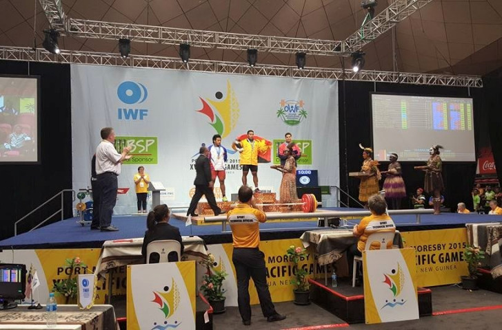 Kari sends home crowd into raptures with dramatic double weightlifting gold at Pacific Games