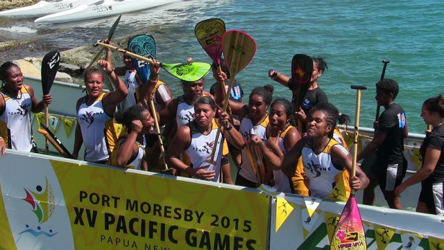 Papua New Guinea claim shock va'a victory over Tahiti on successful day for hosts at Port Moresby 2015