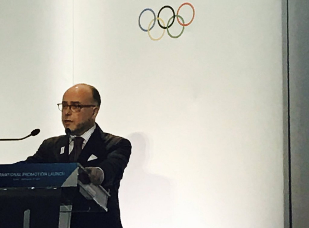 French Prime Minister Bernard Cazeneuve was among the speakers here today ©Paris 2024/Twitter
