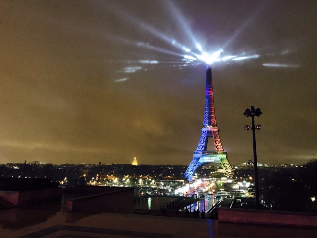 Paris 2024's strapline was revealed on the Eiffel Tower ©Paris 2024/Twitter