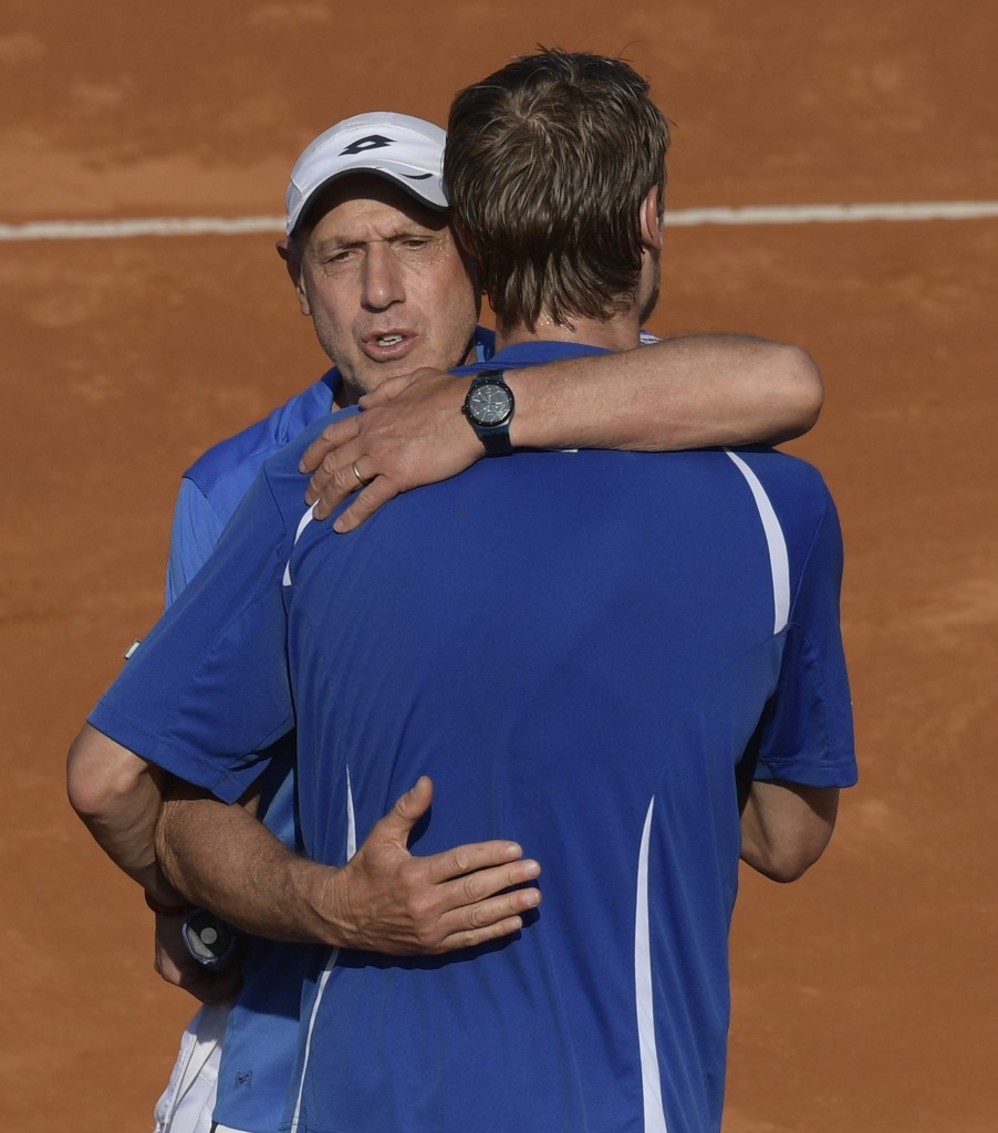 Italy take charge against Davis Cup champions Argentina
