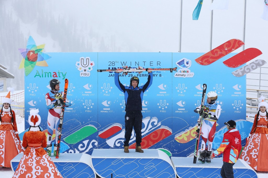 Bosca posts fastest second run to win men's giant slalom at Winter Universiade