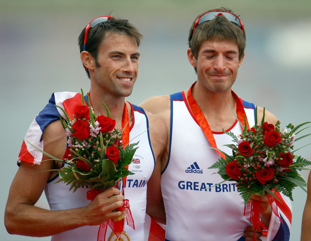 """Mark Hunter, pictured left with Zac Purchase after winning gold at Beijing 2008, says rowng is being """"strangled"""" by the IOC ©Getty Images"""