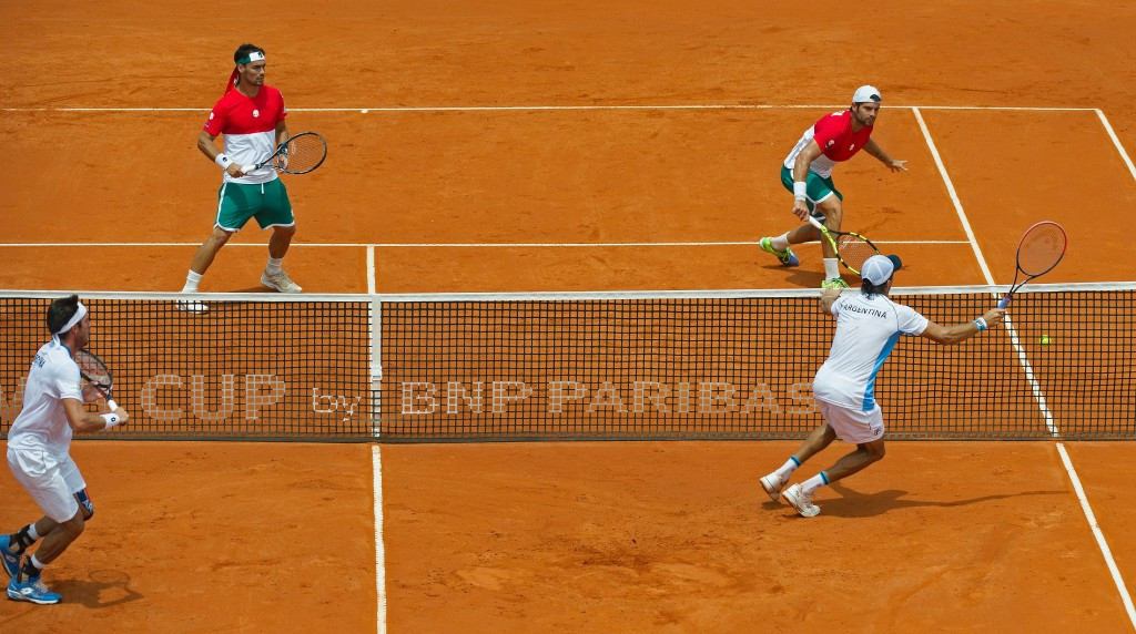 The doubles match in Buenos Aires required a tie break in the final set to settle matters ©Getty Images