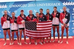 United States claimed men's eight rowing gold today at Gwangju 2015 ©US Rowing