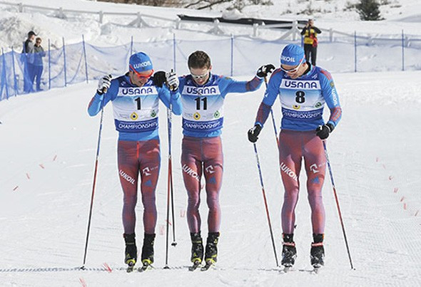 Russia swept the men's under-23 2x15km skiathlon podium on the penultimate day of action at the FIS Nordic Junior World Championships ©US Ski Team/Tom Kelly