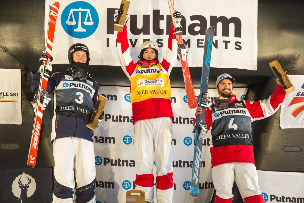 Kingsbury enters record books with moguls win in Deer Valley