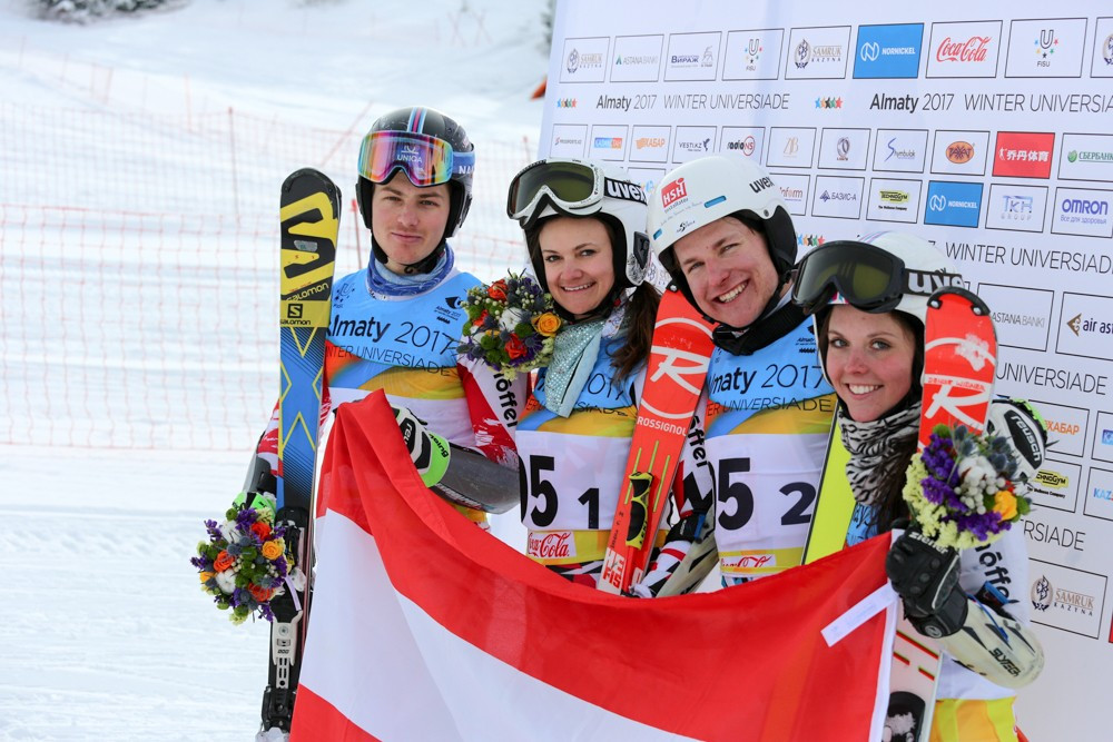 Austria were forced to settle for silver ©Almaty 2017
