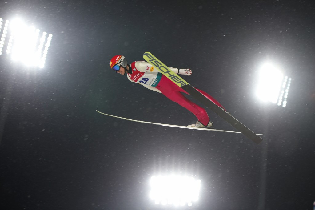 Mario Seidl topped the ski jumping phase and finished third  ©Getty Images