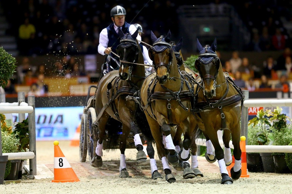Exell moves to top of FEI World Cup Driving standings after Bordeaux success