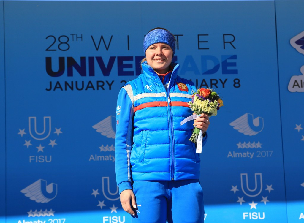 Anna Pristalova secured another Russian gold ©Almaty 2017