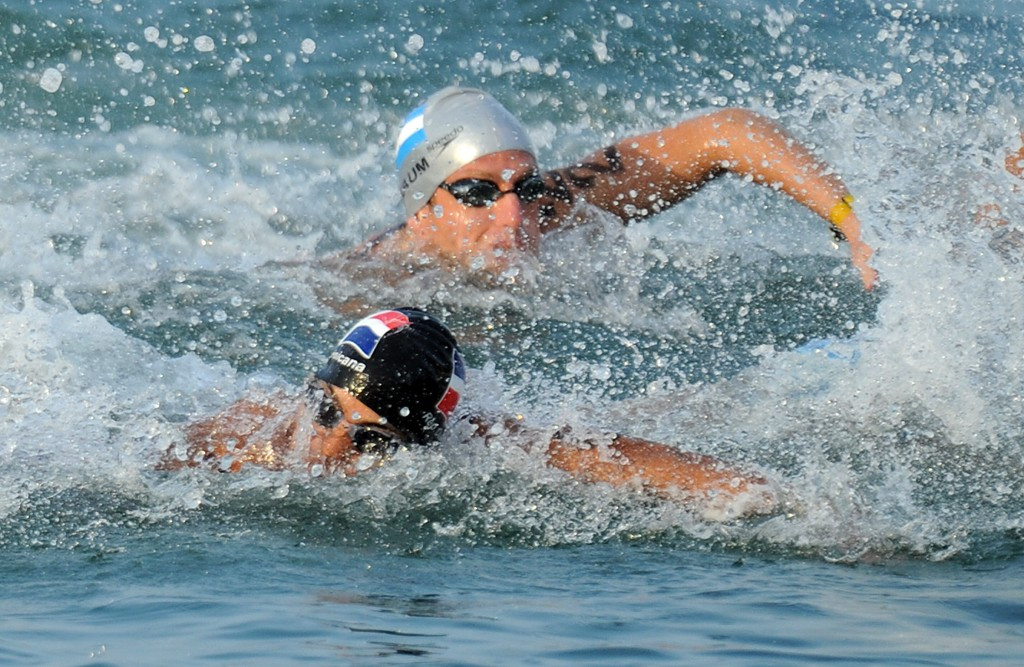 Home victory for Blaum at FINA Open Water Grand Prix