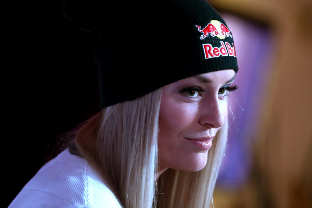 Lindsey Vonn, pictured speaking before the World Championships, will be seeking a return to her best form ©Getty Images