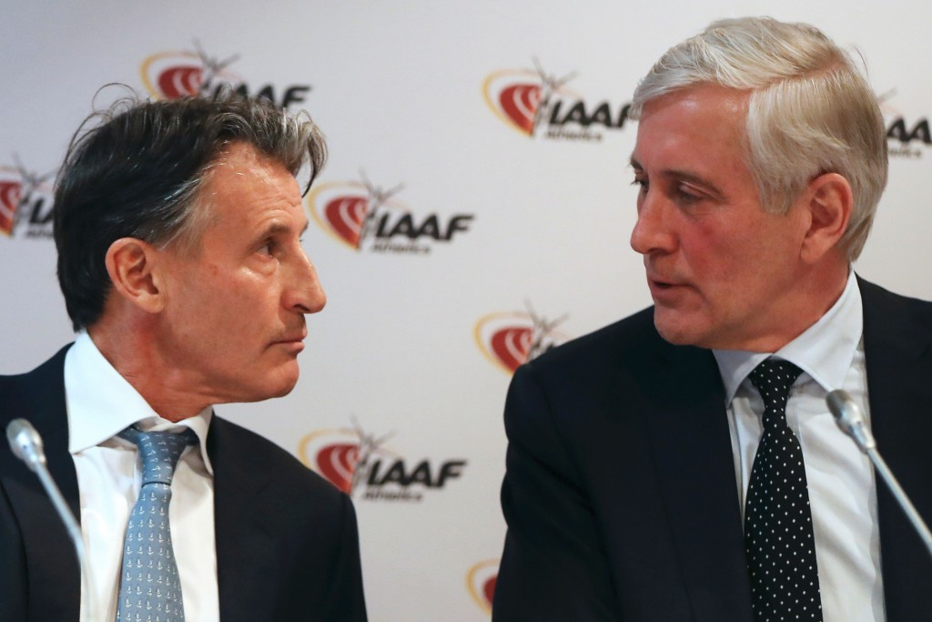 Sebastian Coe, left, and Rune Andersen have announced a new pathway for the reintegration of the Russian Athletics Federation ©Getty Images