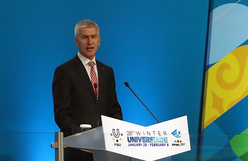 FISU President backs Almaty to host future major events after 2017 Winter Universiade