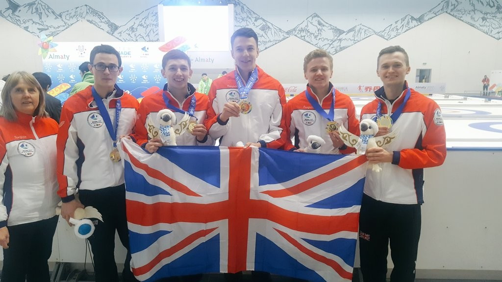 Great Britain complete unbeaten campaign to claim men's curling gold at Almaty 2017