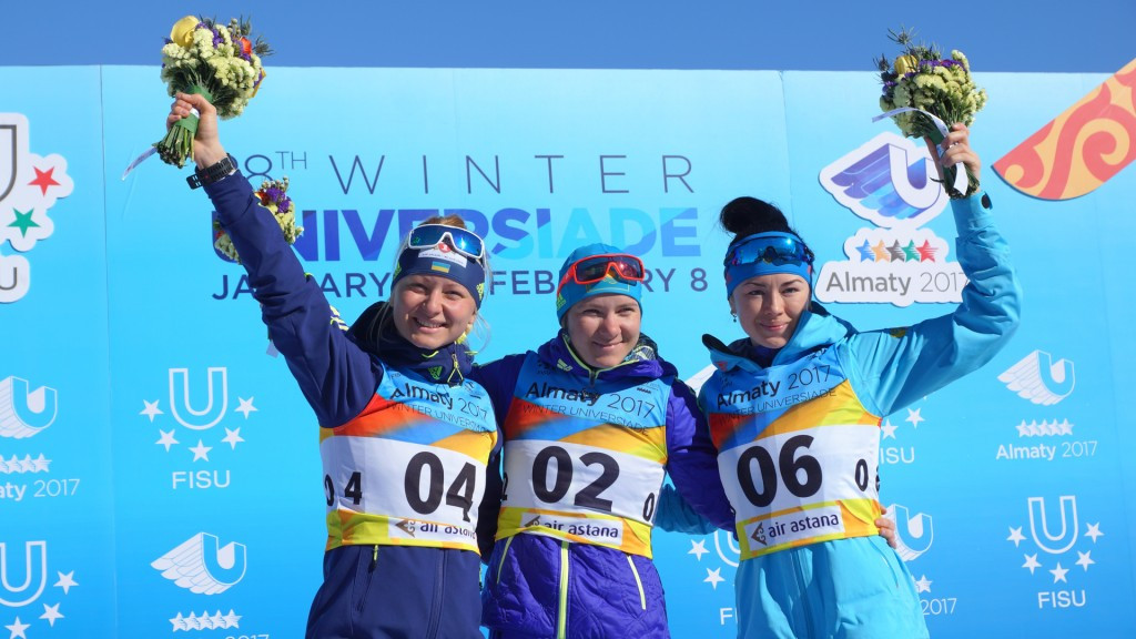 Home favourite Vishnevskaya claims second biathlon gold at Winter Universiade