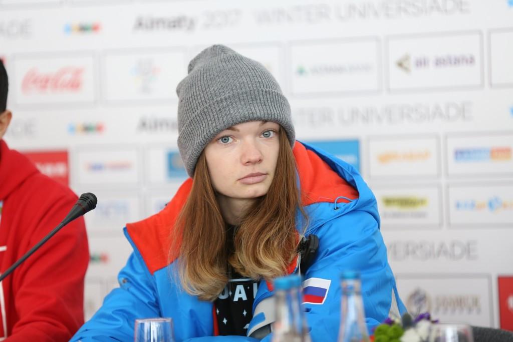 Anastasiia Loginova extended Russian dominance in the women's big air event ©Almaty 2017