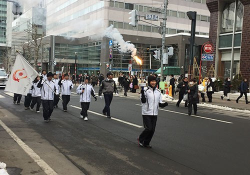 Torch Relay takes place before Sapporo 2017