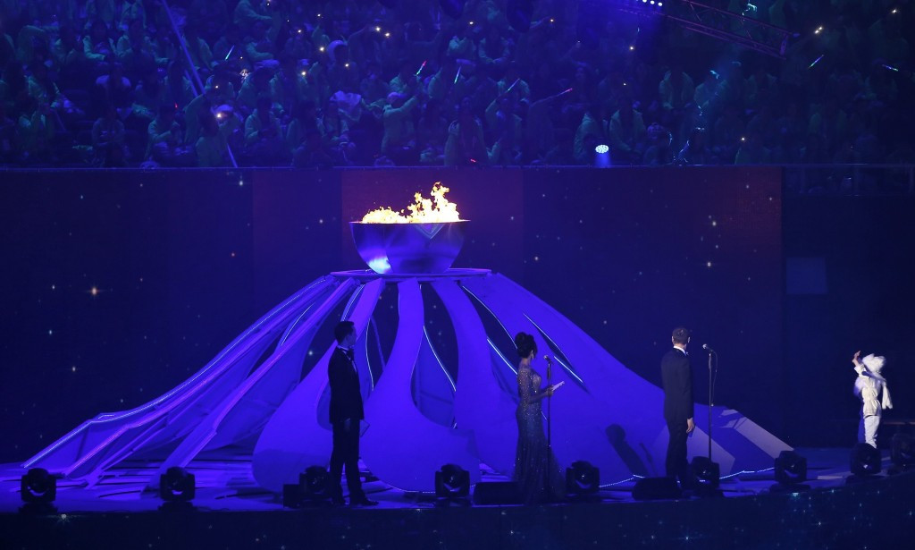 Almaty 2017 officially came to an end when the Winter Universiade flame was extinguished ©Almaty 2017