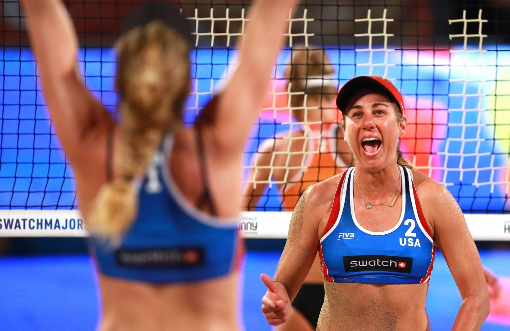 Rio 2016 bronze medallists Kerri Walsh Jennings and April Ross got their pursuit of the Fort Lauderdale title off to the best possible start by winning their first match ©FIVB