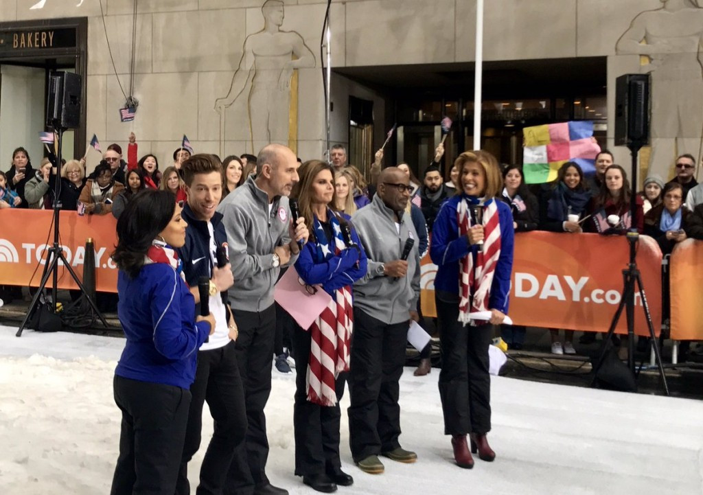 USOC have held events throughout the week, including promotion on television ©Twitter/USOC