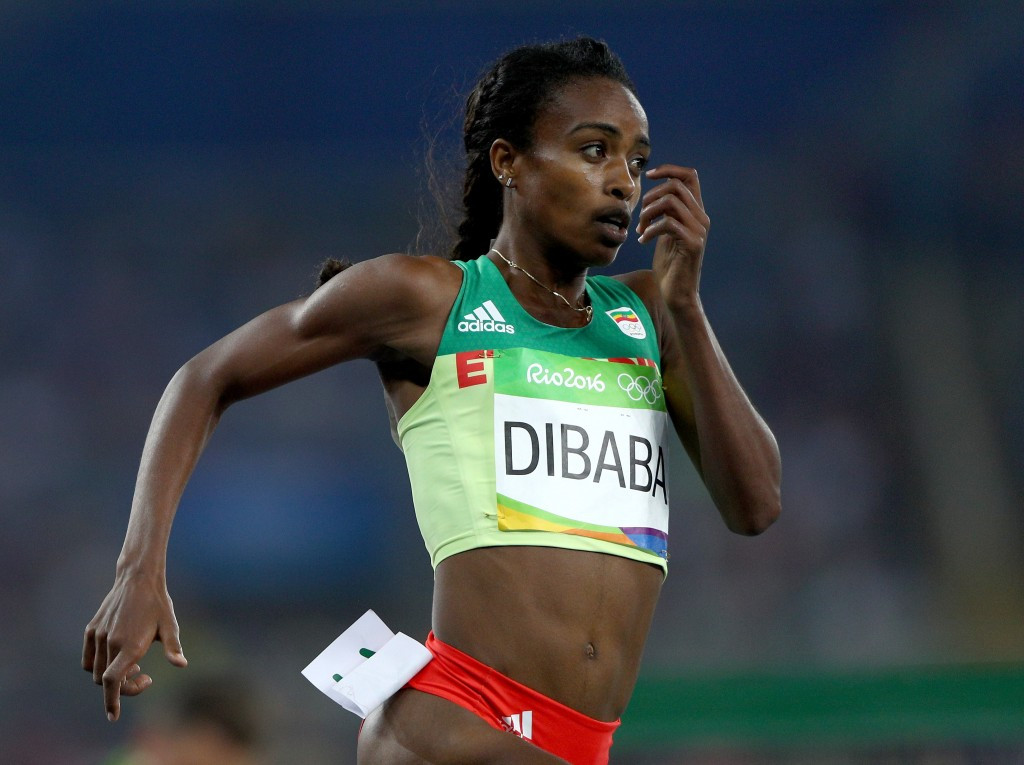 Genzebe Dibaba recorded the fastest half marathon debut at Valencia too ©Getty Images