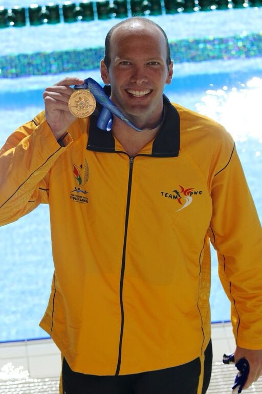 Papua New Guinea's Ryan Pini claimed the men's 100m freestyle gold medal