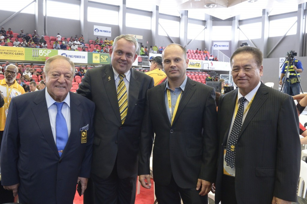 International Weightlifting Federation President Tamás Aján attended the Pacific Games here in Port Moresby along with other dignitaries
