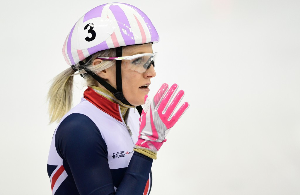 Elise Christie is a Pyeongchang 2018 medal hope for Britain in short track ©Getty Images