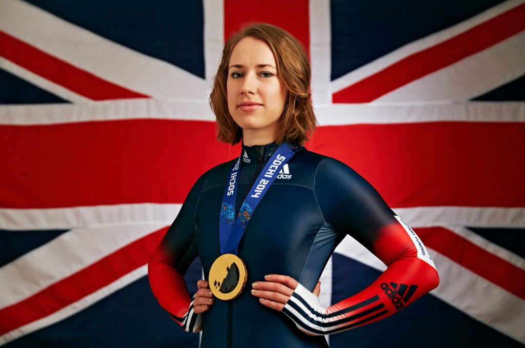 Lizzy Yarnold won a historic Olympic skeleton gold for Britain at Sochi 2014 ©Getty Images