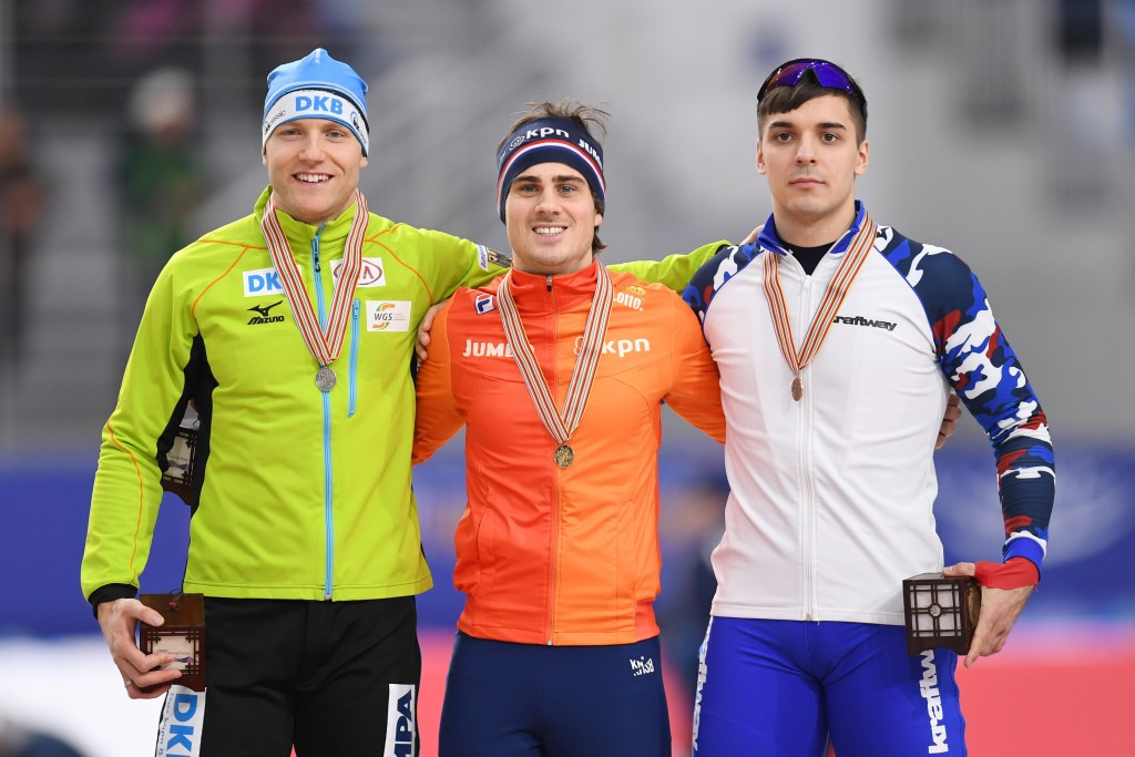 Jan Smeekens became the first Dutchman to win the 500m title at the Championships ©Getty Images
