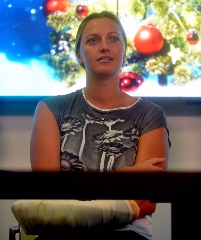 Petra Kvitova will be absent for the Czech Republic ©Getty Images